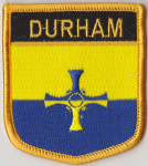 Durham Embroidered Flag Patch, style 07.